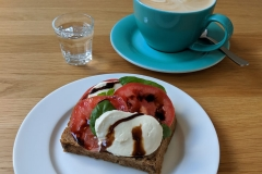 Caprese Toast in Prague
